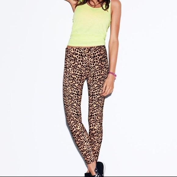 e1677dbb765fb PINK Pants   Victorias Secret Leopard Leggings   Poshmark