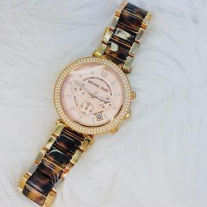 Michael Kors Parker Watch - Rose Gold/Tortoise