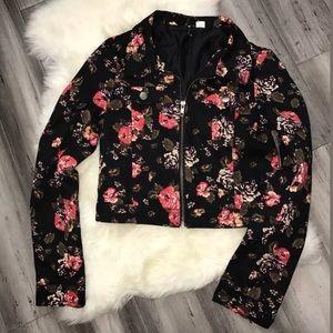 *NWOT* H&M floral Zip Up Crop Jacket 4
