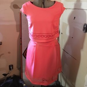 Jessica Simpson Coral Two Piece Dress
