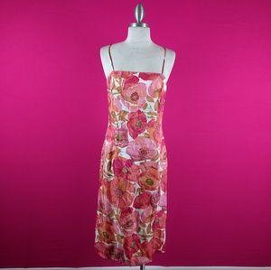 Ann Taylor size 4 floral silk dress