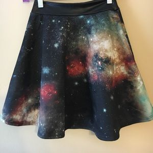 XS galaxy themed skirt