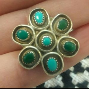 Beautiful Vintage Sterling Zuni Turquoise Ring
