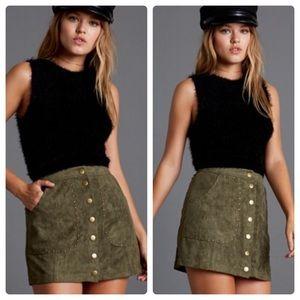LAST 1️⃣ Suede Studded Mini Skirt