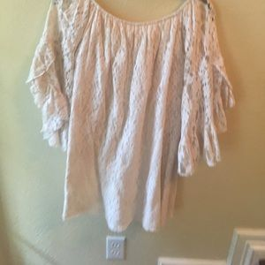Cream lace tunic