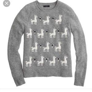 J.Crew llama sweater 100% wool