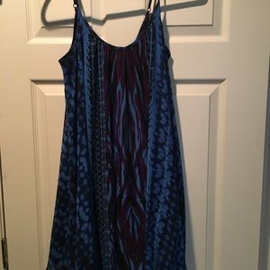 Express Blue Pattern Dress