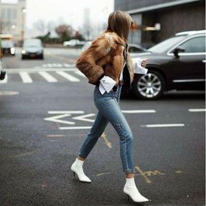 Strut! Shoes - LAST PAIR!!//The Portia// White low heel bootie