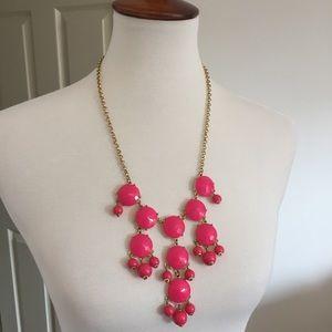 J. Crew • Pink Bubble Bib Necklace