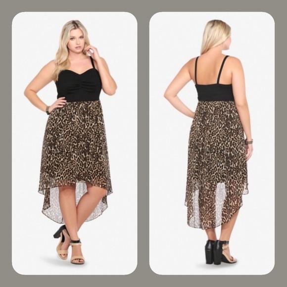 Torrid Plus Size Leopard Print Dress 3x Nwot Poshmark