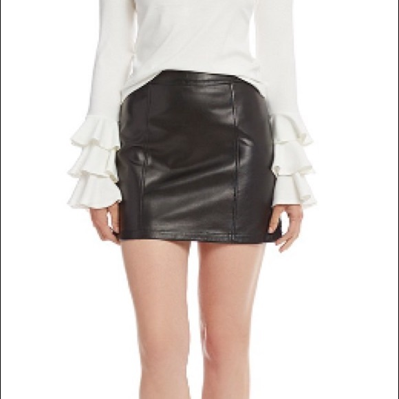 076e90df93bf Gianni Bini Dresses & Skirts - Gianni Bini Rachel Genuine Leather Mini Skirt
