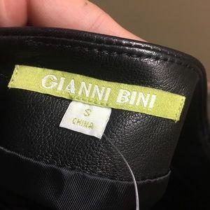 33659e445631 Gianni Bini Skirts - Gianni Bini Rachel Genuine Leather Mini Skirt
