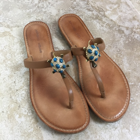 e7da9e13b0b7 ANTONIO MELANI Shoes - ANTONIO MELANI Turtle Leather Sandals