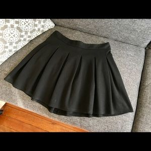 Black Pleated Circle Skirt