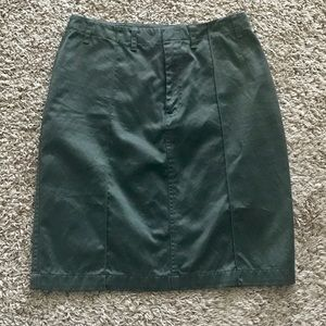 BR Army Green Pencil Skirt