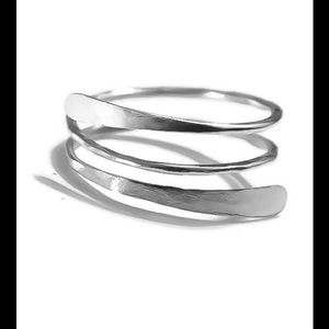 Moodtherapy Jewelry - Restocked 925 Sterling Silver Spiral Thumb Ring