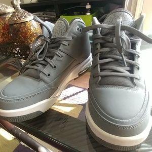Jordan Shoes - FINAL SALE -Gray Jordan high top basketball shoes