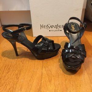 Authentic ysl patent leather heel