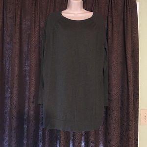 Forest green long sleeved sweater dress