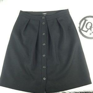 J. Crew Flair Skirt double Serge Wool Size 6