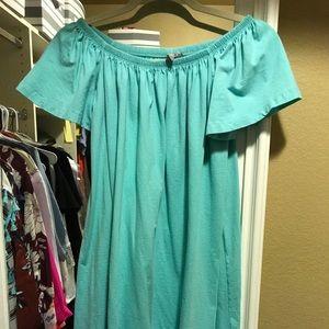 Asos off the shoulder maternity dress