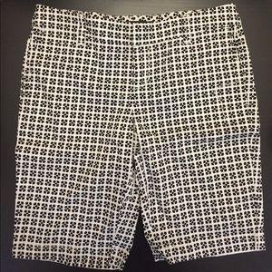 Trouvé patterned white & black shorts