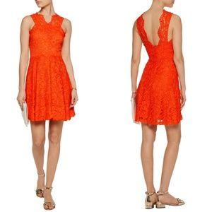 Sandro Riviera Embroidered Lace Crepe Mini Dress 1