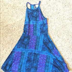 Mossimo blue patterned dress