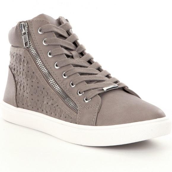3059176819a Steve Madden gray Eiris high top sneaker. M 59cab8bc291a35c4850d4796