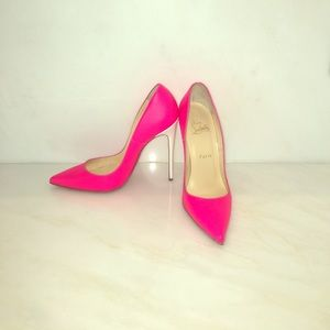 Authentic Christian Louboutin So Kate In hot pink