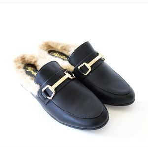gazell-black-princetown-loafer-mule