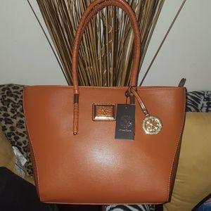 Chritian Lacroix cognac shoulder bag
