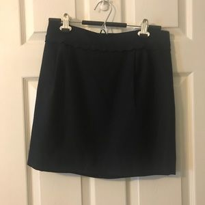 J. Crew scallop-edge skirt