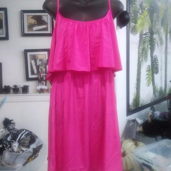 Fun & Flirty Dresses & Skirts - Fuschia Pink Spaghetti strap dress NWT sz Large