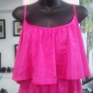 Fun & Flirty Dresses - Fuschia Pink Spaghetti strap dress NWT sz Large