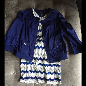 NWOT✨ WHBM Sapphire Satin Jacket AND Tunic Sweater