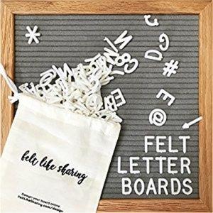 Gray felt letter board