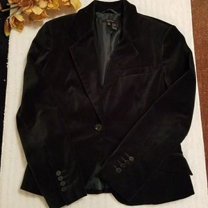 Zara Dark green velvet blazer size L