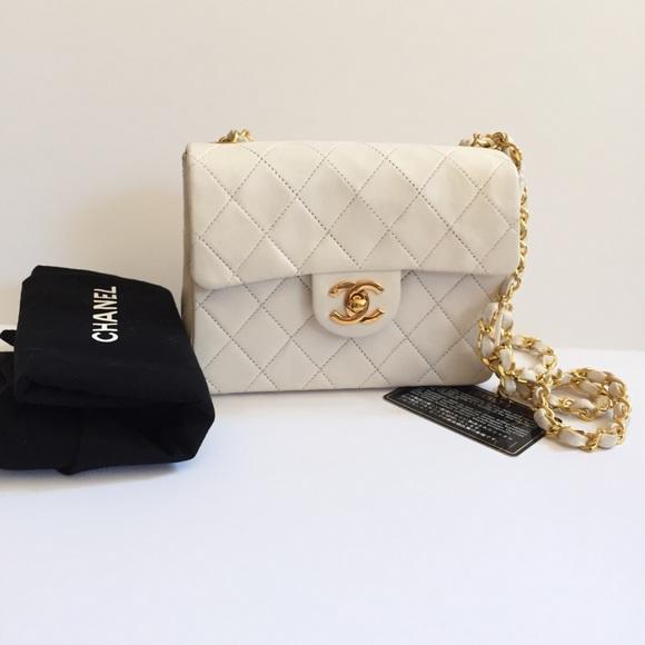 e113d5ee5cc8 CHANEL Bags | Vintage Mini Square Flap Bag | Poshmark