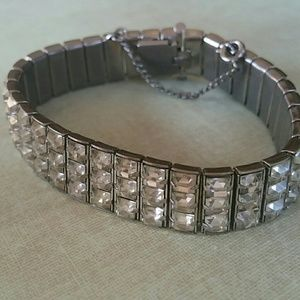 Vintage crystal triple row bracelet