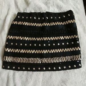 Dresses & Skirts - Black and Gold Sequined /Beaded Skirt
