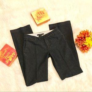 Zara Creased Denim Trousers