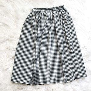 Vintage Gingham Midi Length Skirt