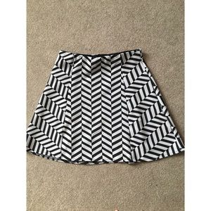 Black and white stripey skirt