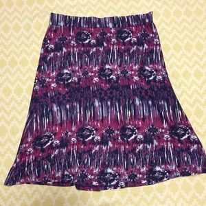 Faded Glory colorful midi skirt