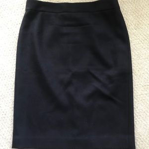 J. Crew No. 2 pencil skirt in double-serge wool.