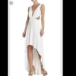 Off White and mesh BCBG Anastasia dress