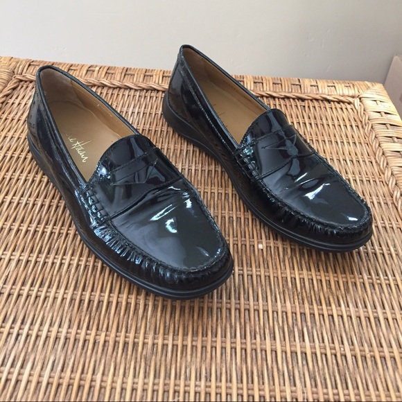 15c0757dc8b Cole Haan Shoes - Cole Haan Black Patent Penny Loafers Air Nike Sole