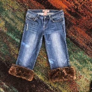 NWOT❗️ Candies Jean Capris W/Removable Fur