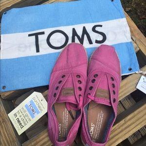 Toms pink ceara tie shoes